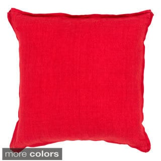Daltrey 18-inch Solid Decorative Down or Polyester Filled Throw Pillow