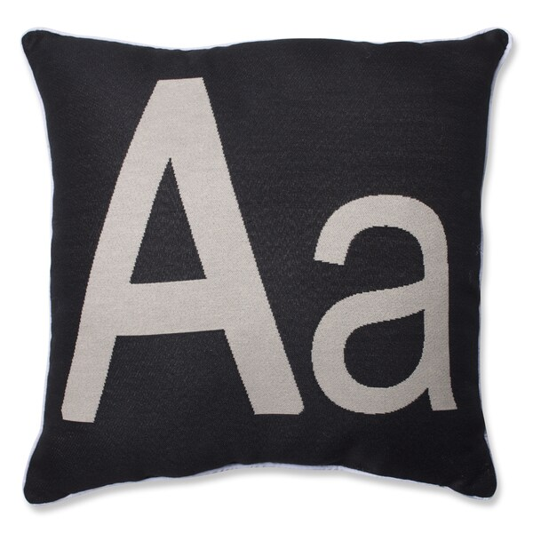 Pillow Perfect Initial Letter Throw Pillow - Free Shipping On Orders Over $45 - Overstock.com ...