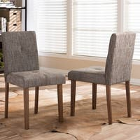 Contemporary Gravel Gray Fabric Dining Chair 2-Piece Set by Baxton Studio
