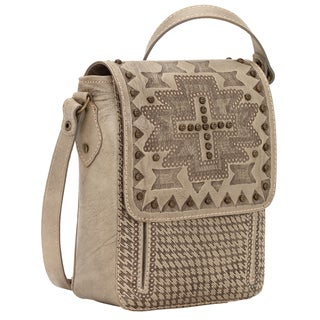 American West Apache Collection Brown Leather Crossbody Bag