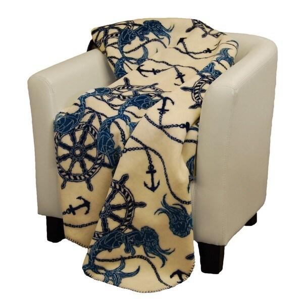 Denali Fathoms Below dark teal Micro-plush Throw Blanket