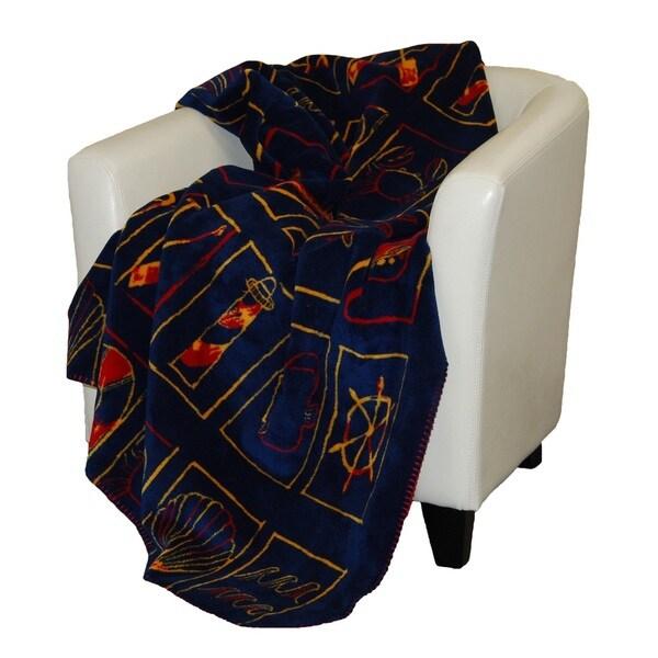 Denali Nautical Flair garnet Micro-plush Throw Blanket
