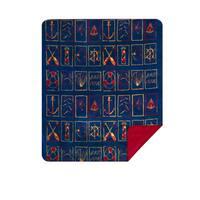 Denali Nautical Flair/Garnet Blanket - N/A - 60x50