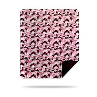 Denali Camouflage pink taupe Micro-plush Throw Blanket