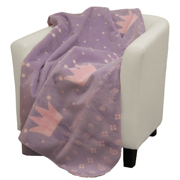 Denali Princess in Training purple soft pink Micro-plush Throw Blanket