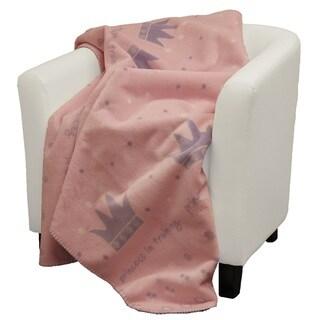 Denali Princess in Training Pink soft purple Micro-plush Throw Blanket