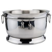 Stainless Steel Double-walled Party Tub with Tie-knot Accent