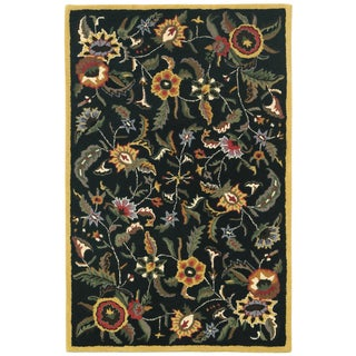 Hand Tufted Paradise Black Wool Rug (4'x6')