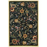 Hand Tufted Paradise Black Wool Rug - 4'x6'