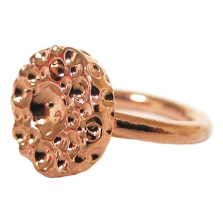 Rose Gold Glistening Suds Stackable Ring Bita Pourtavoosi