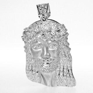 10K Gold 0.60ct TDW Diamond Jesus Pendant