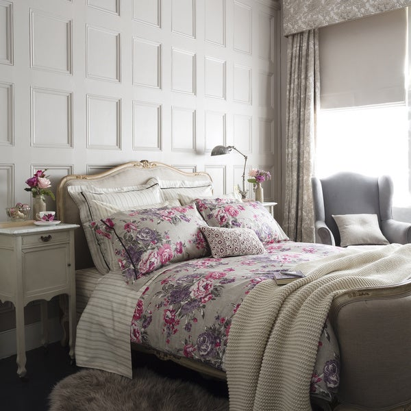 Christy of England Bloomsbury Floral Print Cotton Sateen Duvet Cover