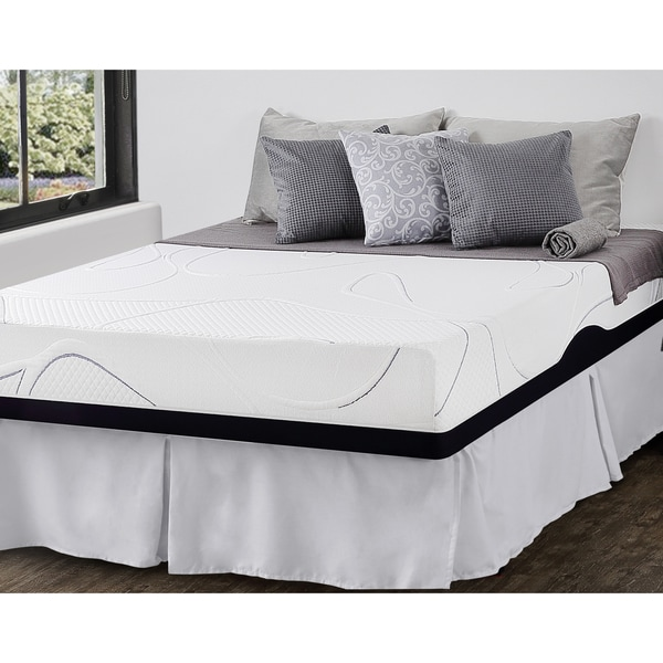 shop priage 10 inch full size gel memory foam mattress and smartbase foundation set black. Black Bedroom Furniture Sets. Home Design Ideas