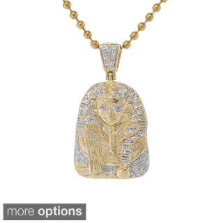 Sterling Silver 0.20ct TDW Diamond Egyptian Mummy Pendant