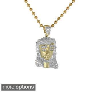 10K Gold Pave-set Diamond Jesus Pendant (Option: 29 Inch) https://ak1.ostkcdn.com/images/products/9951555/P17105795.jpg?impolicy=medium