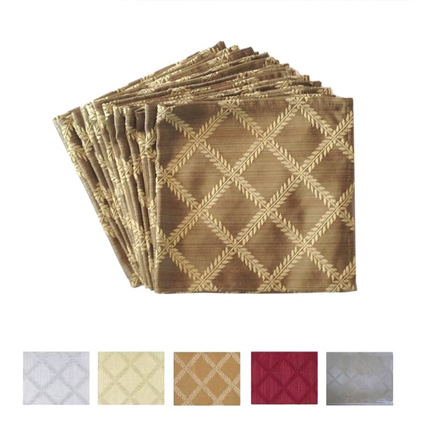 Shop Lenox Laurel Leaf Damask Napkins Set Of 12 Free