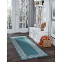 Alise Rugs Garden Town Transitional Greek Key Runner Rug