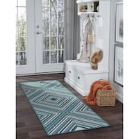 Alise Rugs Garden Town Transitional Chevron Runner Rug