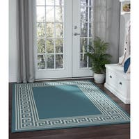 Alise Garden Town Greek Key Area Rug - 5'3 x 7'3