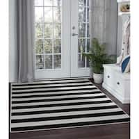 Alise Rugs Garden Town Transitional Stripe Area Rug - 7'10 x 10'3