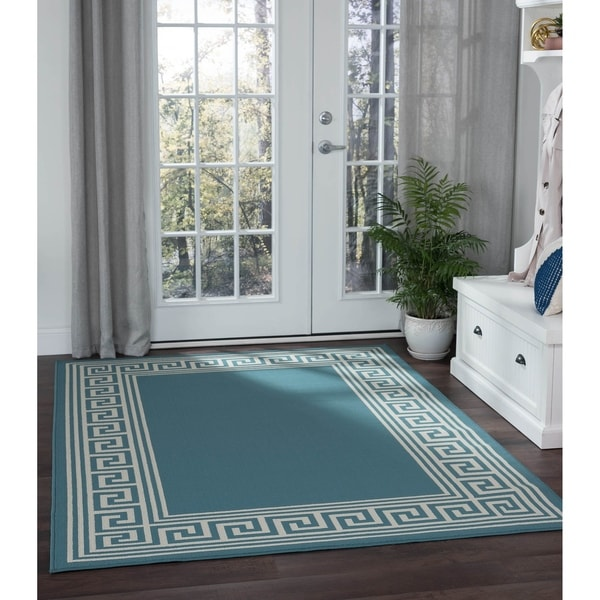 Alise Garden Town Greek Key Area Rug - 7'10 x 10'3