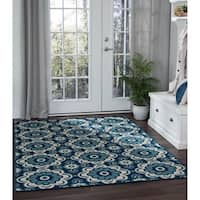 Alise Rugs Garden Town Transitional Floral Area Rug - 5'3 x 7'3