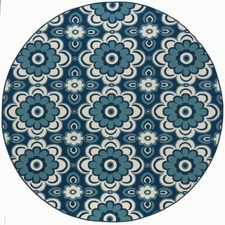 Alise Garden Town Floral Area Rug (7'10 Round)