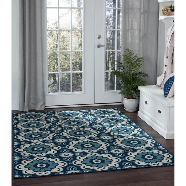 Alise Rugs Garden Town Transitional Floral Area Rug - 7'10 x 10'3