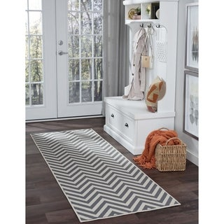 Alise Garden Town Simple Chevron Runner (2'3 x 7'3)