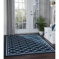 Alise Rugs Garden Town Transitional Moroccan Tile Area Rug - 5'3 x 7'3