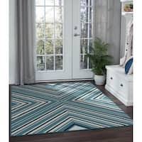 Alise Rugs Garden Town Transitional Chevron Area Rug - 5'3 x 7'3