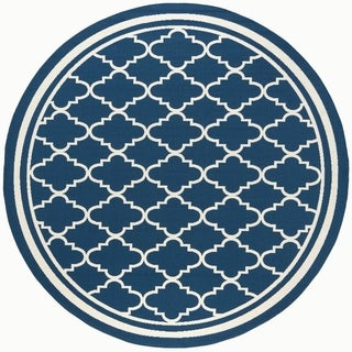 Alise Rugs Garden Town Transitional Moroccan Tile Round Area Rug