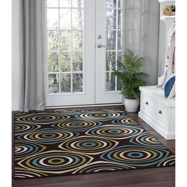 Alise Rugs Garden Town Transitional Geometric Area Rug - 7'10 x 10'3