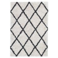 Jani Shag Ivory and Graphite Grey Eco Silky Shag Rug (8' x 10')