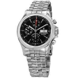 Revue Thommen 17081.6134 'Pilot' Black Dial Stainless Steel Bracelet Chronograph Watch