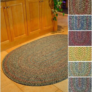 Rhody Rug Sophia Indoor/ Outdoor Braided Reversible Area Rug (8' x 11') - 8' x 11'