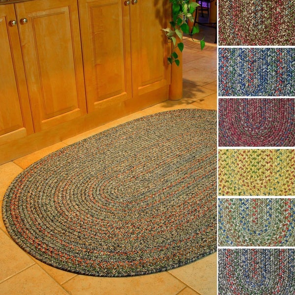 Sophia Indoor/ Outdoor Braided Reversible Area Rug by Rhody Rug (10' x 13')