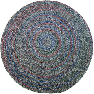 Rhody Rug Sophia Indoor/ Outdoor Braided Reversible Round Rug (8' x 8')