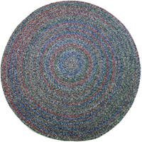 Rhody Rug Sophia Indoor/ Outdoor Braided Reversible Round Rug - 8' x 8'