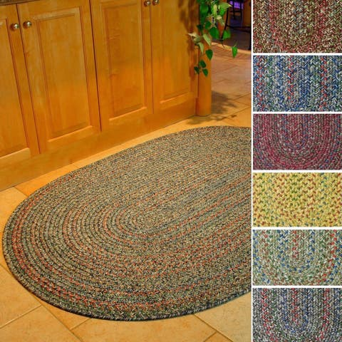 Rhody Rug Sophia Indoor/ Outdoor Braided Reversible Area Rug (5' x 8')