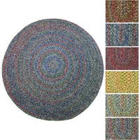 Rhody Rug Sophia Indoor/ Outdoor Braided Reversible Round Rug (4' x 4') - 4'