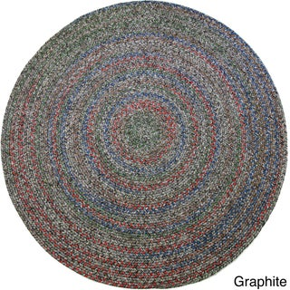 Rhody Rug Sophia Indoor/ Outdoor Braided Reversible Round Rug (4' x 4') - 4' (More options available)