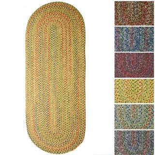 Rhody Rug Sophia Indoor/ Outdoor Braided Reversible Runner Rug (2' x 6')