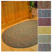 Rhody Rug Sophia Indoor/ Outdoor Braided Reversible Area Rug (2' x 4') - 2' x 4'