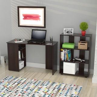 Cappuccino Finish Wood Corner Desk 13967371 Overstock