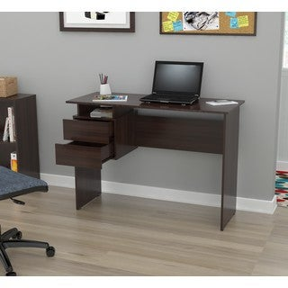 Inval America Espresso Two-drawer Writing Desk