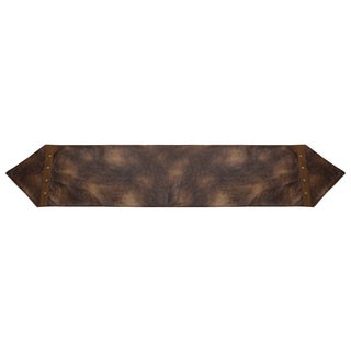 HiEnd Accents Brown Faux Leather Runner