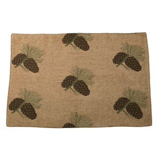 HiEnd Accents Pine Cone Placemat (Set of 4)