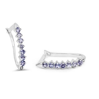 Olivia Leone 0.98 Carat Genuine Tanzanite .925 Sterling Silver Earrings