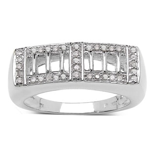 Malaika Sterling Silver 1/5ct TDW Diamond Ring